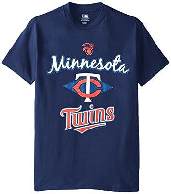 MLB Minnesota Twins Men's 58T Tee, Navy, X-Large
