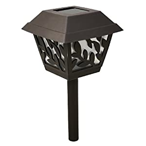 Click to buy LED Outdoor Lighting: Paradise Plastic Solar Path Light with White LED and Vines Design from Amazon!