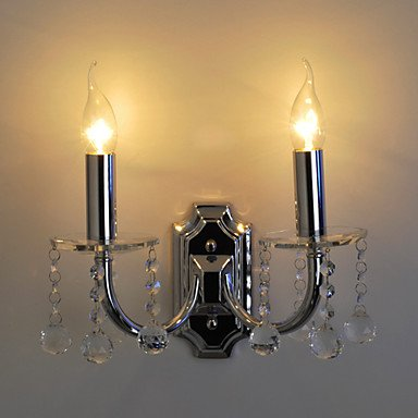 BECKER - Lampe Murale Bougie Cristal - 2 slots š€ ampoule