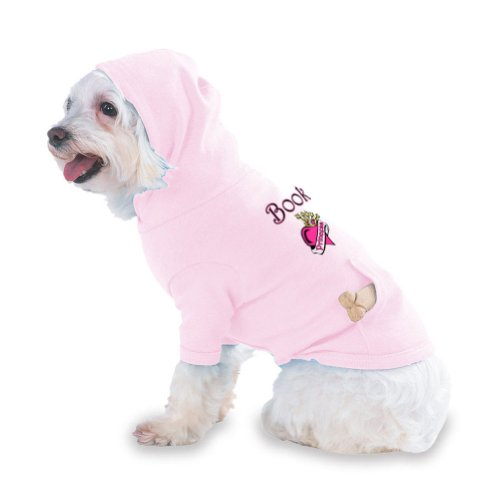 Book Princess Hooded (Hoody) T-Shirt with pocket for your Dog or Cat Medium Lt Pink