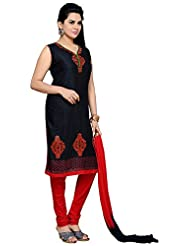 Roopali Creations Women's Cotton Silk Salwar Suit Set