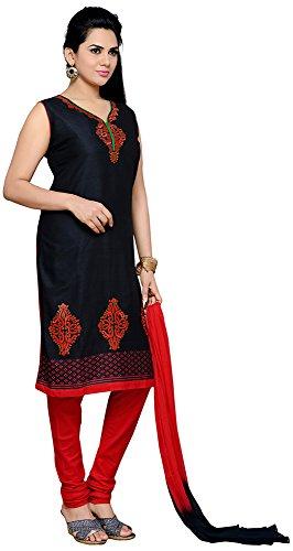 Roopali Creations Women's Cotton Silk Salwar Suit Set