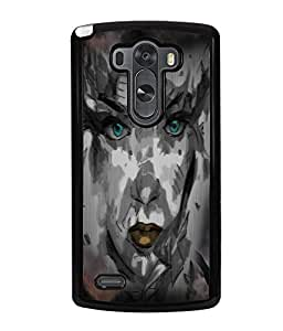 Fuson Night Haunted Girl Face Back Case Cover for LG G3 - D4116