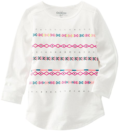 OshKosh B'gosh Little Girls' Print Knit Tunic (Toddler/Kid) - White - 5T