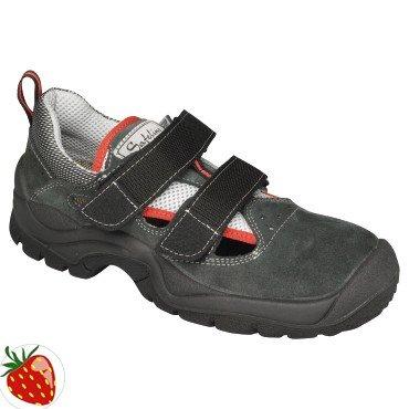 Velluto-Sandali di sicurezza Taglia 42S1Nero/Grigio Safe Line con velcro