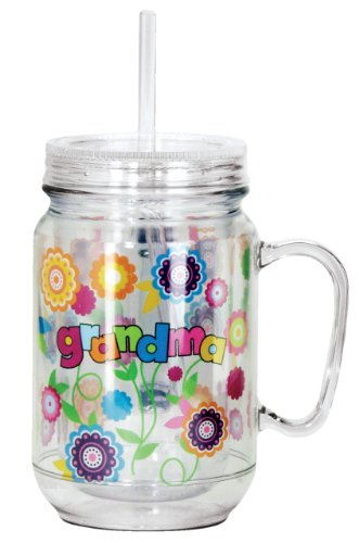 Spoontiques Grandma Mason Jar, Multi Colored