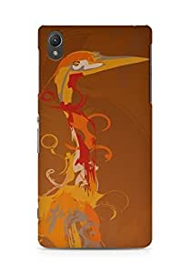 Amez designer printed 3d premium high quality back case cover for Sony Xperia Z2 (Bird drawing paint)