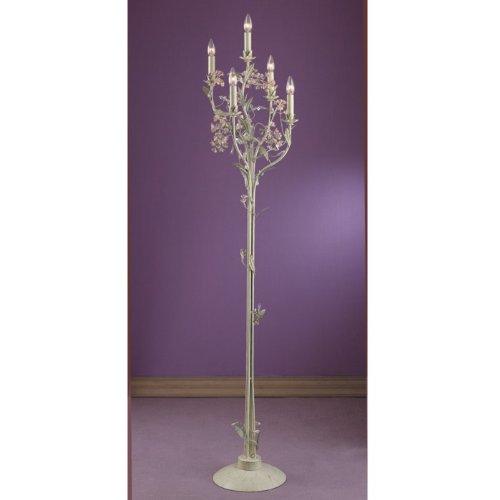 Best buy wrought iron light fixtures deals for Vintage pink floor lamp