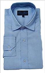 Line Shirt Men's Poly Cotton Formal Shirt(91203_Blue__40)