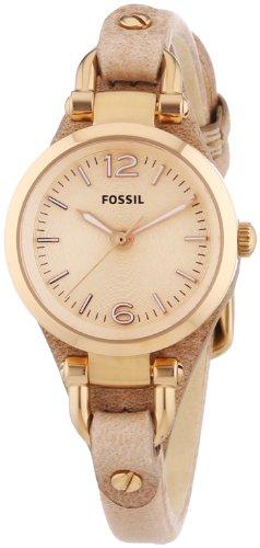 Fossil Damen-Armbanduhr XS Georgia Mini Analog Quarz Leder ES3262