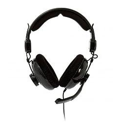 Bluestork MC600 - Auriculares envolventes con micrófono integrado, respuesta en frecuencia 20Hz-20,000 Hz, color negro