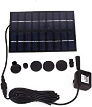 Urparcel GY-D-0018 Solar Powered Fountain Pool Garden Watering Kits Black Suitable for Bird Bath Fis