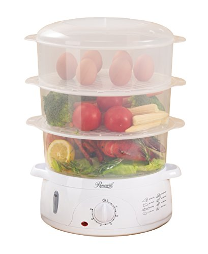 Rosewill BPA-free, 9.5-Quart (9L), 3-Tier Stackable Baskets Electric Food Steamer with Timer, RHST-15001 (3 Tier Electric Steamer compare prices)