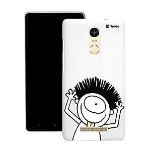 Customizable Hamee Original Designer Cover Thin Fit Crystal Clear Plastic Hard Back Case for Motorola Moto G3 (Peeking Monster)