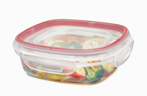 Rubbermaid Lock-its 3-Cup Square Food-Storage Container with Lid (7K92 / 1778067) (Easy Lock Food Containers compare prices)