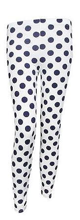 Ladies Polka Dot Spotted Jersey Legging Trouser Pant (S/M (UK 8-10 EU 36-38 US 4-6))