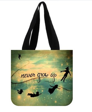 Popular Women Handbags Custom Peter Pan Never Grow Up Cool Canvas Tote Bag Shoulder bag (Peter Pan Bag compare prices)