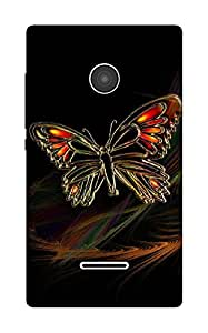 The Racoon Grip The Butterfly hard plastic printed back case / cover for Microsoft Lumia 532