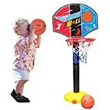 Adjust Children Kids Basketball Hoop Backboard Set and Ball 115cm