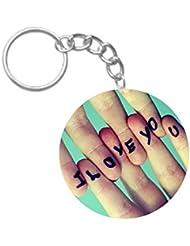 I Love You | ShopTwiz Printed Circle Key Ring