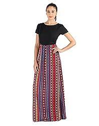 Vinegar Women's Black Polyester Dress