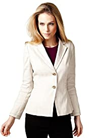 Per Una Linen Blend Two Button Jacket