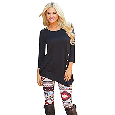 ABC® Womens Long Sleeve Shirt Loose Cardigan Knitted Sweater Blouse