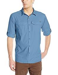 Columbia Men\'s Silver Ridge Lite Long Sleeve Shirt, Steel, X-Large