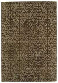 Martha Stewart MSR3258C Coffee and Brown Traditional 6x6 Area Rug