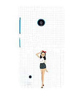 EPICCASE Freeky dress Girl Mobile Back Case Cover For Nokia Lumia 530 (Designer Case)