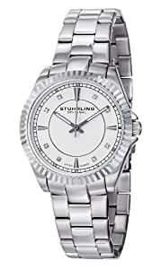Stuhrling Original Lady Marine Women's Quartz Watch with Silver Dial Analogue Display and Silver Stainless Steel Bracelet 408L.12112