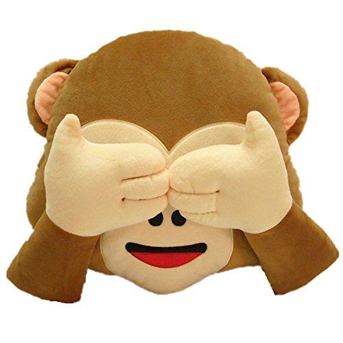 Colorfulworld 32cm oreiller de singe en peluche toy Emoji coussin || oreiller...