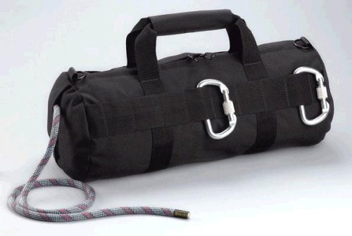 Black Rappelling Climbing Rope Gear Bag