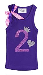Girls Birthday Party #2 Purple Fushia Tank Top By Bubblegum Divas