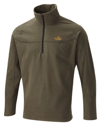Bear Grylls by Craghoppers Men's Originals Half Zip Microfleece,Dark Khaki ,Medium