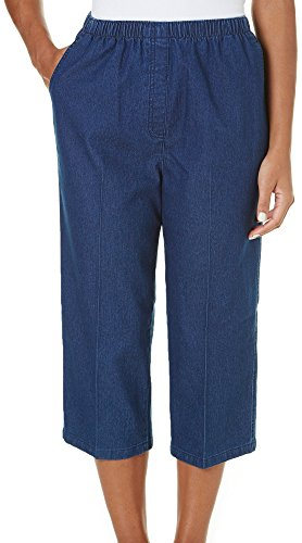Alia Petite Denim Pull On Capris 16P Indigo blue (Alia Clothing compare prices)