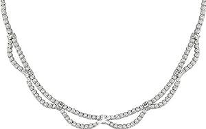 18k White Gold 16 1/5ct TDW Diamond Necklace (F-I, VS-SI)