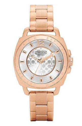 COACH Watch, Rose-Gold Boyfriend Mini Bracelet Watch W1044 RGD WMN