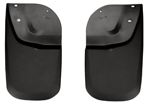 Husky Liners Custom Fit Molded Rear Mudguard for Select Ford F-250 /F-350 Models - Pack of 2 (Black)