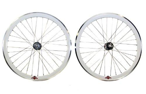 UH 700c Flip Flop Single Speed Fixie Wheels White Rim