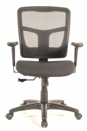 Ergo Value Mesh Mid-Back Task Chair, Black