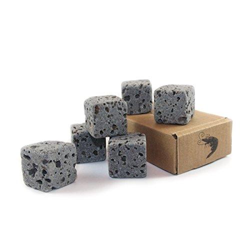 Eco-Bricks-6-wasserreinigende-Aquarium-Deko-Steine-100-Vulkangestein