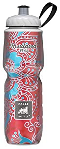 Polar Bottle Insulated Water Bottle (Red/Blue Bandana) (24 oz) - 100% BPA-Free Water Bottle - Perfect Cycling or Sports Water Bottle - Dishwasher & Freezer Safe
