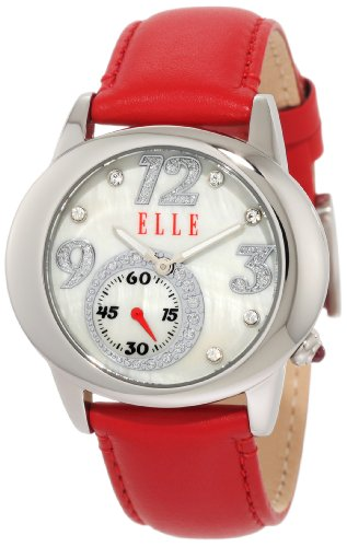 ELLETIME Women's EL20049S01N Red Leather Watch