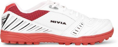 Nivia-Caribbean-Cricket-Shoes-Mens-9-UK-WhiteBlue