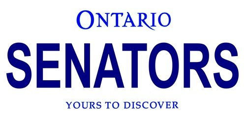 LP-2069 Ontario Canada Province Background License Plates- Senators