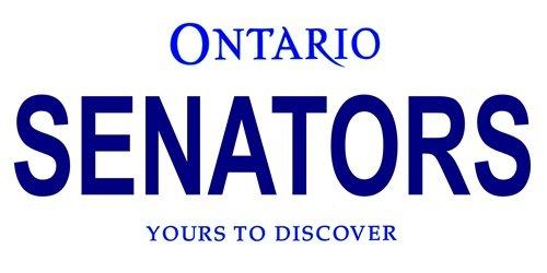 LP-2069 Ontario Canada Province Background License Plates- Senators