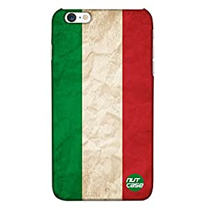 Designer iPhone 6P Case Cover Nutcase -Italy Vintage Distressed Flag
