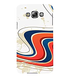 PrintVisa Colorful Wave Design 3D Hard Polycarbonate Designer Back Case Cover for Samsung Galaxy E7