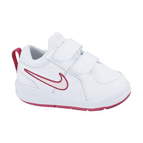 Nike  Scarpe sportive Tennis, Unisex - bambino, Bianco/Rosso/Rosa, 21